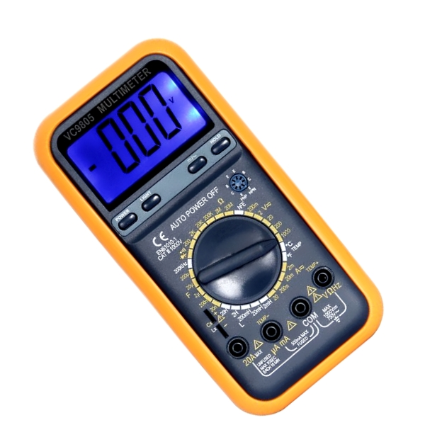 MULTIMETER DIGITAL (CAP,VOLT,AMP ,TEMP,TERM) VC9805
