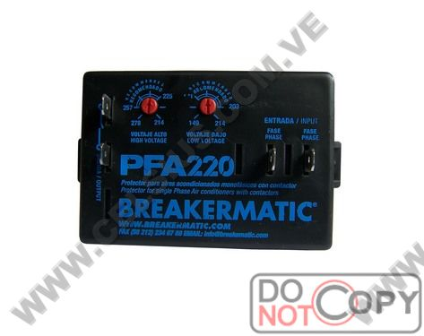PROTECTOR AJUSTABLE A/A 220V   PFA-220A BREAKERMATIC